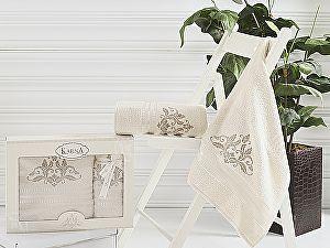 Комплект полотенец Karna Agra, кремовый