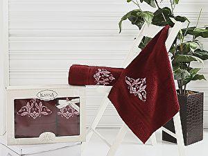 Комплект полотенец Karna Agra, бордовый