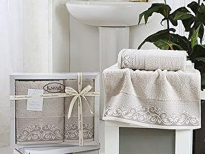 Комплект полотенец Karna Beyza, стоне