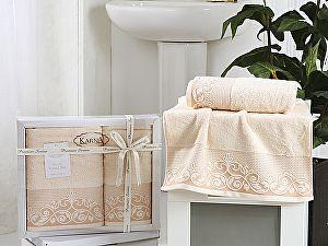Комплект полотенец Karna Beyza, светло-абрикосовый