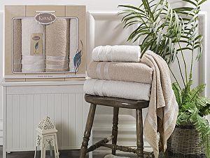 Комплект полотенец Karna Petek, кремовый и бежевый
