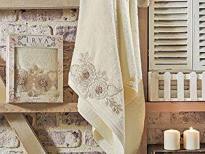 Купить полотенце Irya Fleur 70х130 см с гипюром, золотистое