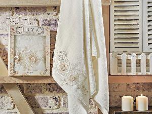 Полотенце Irya Fleur 70х130 см с гипюром, кремовое