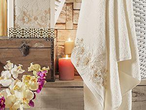 Купить полотенце Irya Perceive 85х150 см с гипюром, молочное
