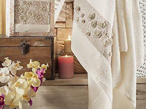 Купить полотенце Irya Heaven 85х150 см с гипюром, бежевое