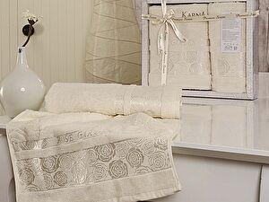 Комплект полотенец Karna Rose Garden, кремовый