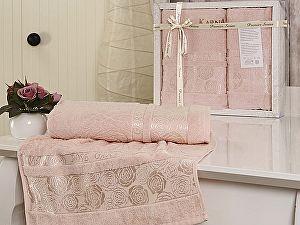 Комплект полотенец Karna Rose Garden, светло-розовый