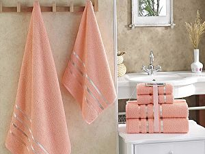 Комплект полотенец Karna Bale, абрикосовый