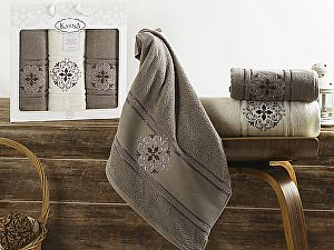 Комплект полотенец Karna Seher, стоне