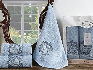 Комплект полотенец Karna Claris, светло-голубой арт. 2359/char004