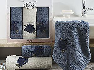 Комплект полотенец Karna Orkide, синий и саксен арт. 2361/char005