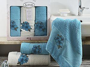 Комплект полотенец Karna Orkide, бирюзовый арт. 2361/char001