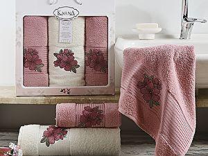 Комплект полотенец Karna Orkide, розовый арт. 2361/char004
