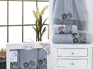 Комплект полотенец Karna Sandy, темно-серый арт. 2391/char006