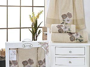Комплект полотенец Karna Sandy, бежевый арт. 2391/char001