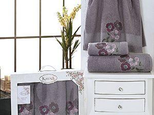 Комплект полотенец Karna Sandy, стоне арт. 2391/char005