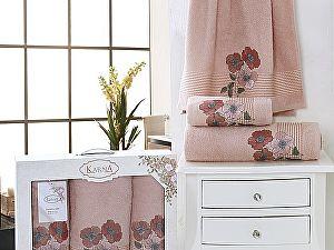 Комплект полотенец Karna Sandy, пудра арт. 2391/char003