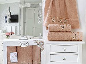 Комплект полотенец Karna Monica, персиковый арт. 2393/CHAR004