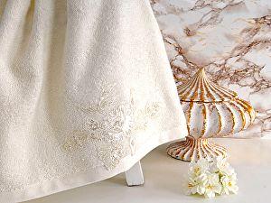 Купить полотенце Irya Show 85х150 см с гипюром, молочное