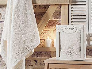 Купить полотенце Irya Cool 85х150 см с гипюром, молочное