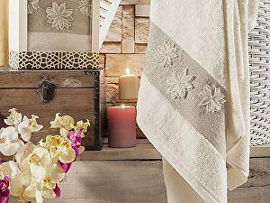 Купить полотенце Irya Beloved 85х150 см с гипюром, кремовое