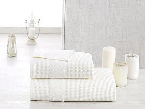 Купить полотенце Karna Truva 90х150 см, кремовое