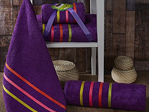 Комплект полотенец Karna Bale Neon, фиолетовый арт. 967/char002