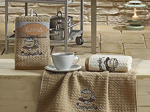 Купить полотенце Karna Lemon V3 45x65 см, коричневый