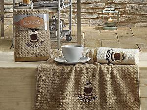Комплект полотенец Karna Lemon V4 45x65 см, коричневый