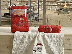 Комплект полотенец Karna Lemon V3 45x65 см, красный