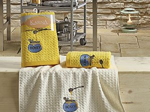 Купить полотенце Karna Lemon V3 45x65 см, желтый