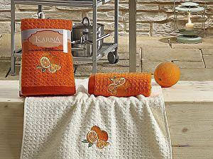 Комплект полотенец Karna Lemon V1 45x65 см, оранжевый
