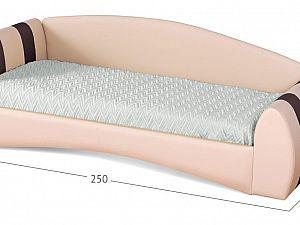 Кровать Moon Trade Кальвет (левая) Модель 387 Суфле/Пралине