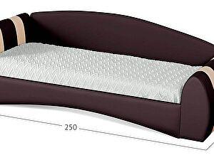 Кровать Moon Trade Кальвет (левая) Модель 387 Кофе/Суфле