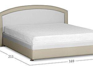 Кровать Moon Trade Мирабель Модель 379 Молоко+Рожь с основанием