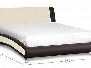 Кровать Moon Trade Помпиду Модель 394 Суфле+Пралине с основанием