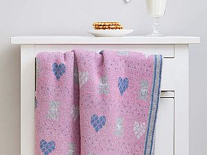 Купить плед Luxberry Lux bear, розовый/голубой/серый