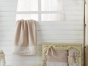 Комплект полотенец DONNA (пудра)