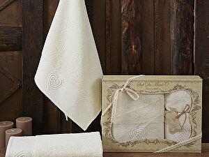 Комплект полотенец AMANDA (крем)
