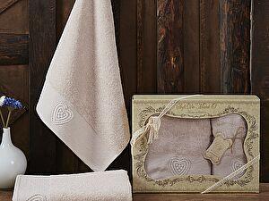 Комплект полотенец AMANDA (пудра)