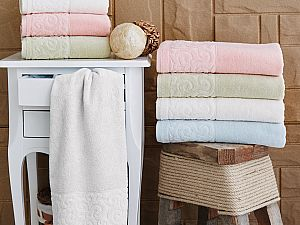 Купить полотенце Sofi De Marko Tiffany 70х130 см, кремовое