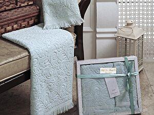 Комплект полотенец Esra (св.зел)