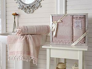 Набор из 2-х полотенец Sofi De Marko Damask Kozali, св. розовый