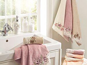 Набор из 3-х полотенец La Villa de Paris Madaline, темно-розовый