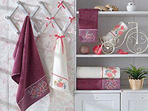 Набор из 3-х полотенец La Villa de Paris Blossom, фиолетовый