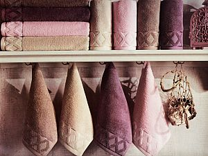 Набор из 3-х полотенец La Villa de Paris Clamp, фиолетовый