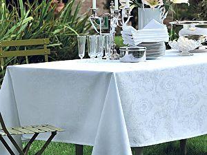 Купить скатерть Garnier-Thiebaut Mille Rubans Blanc с салфетками