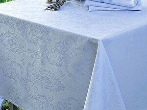 Купить скатерть Garnier-Thiebaut Mille Rubans Porcelaine с салфетками