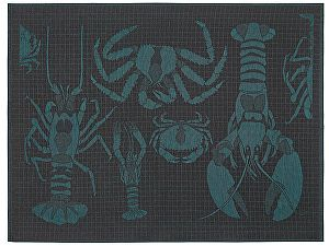 Купить полотенце Leitner Podeidon бирюзовое 50х70 см