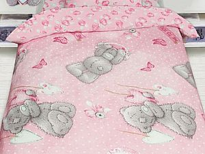 Постельное белье Disney Mty с подарком на розовом